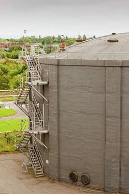 Biodigesters At Sewage Plant Poster by Ashley Cooper