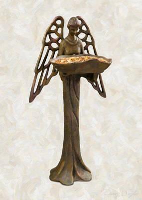Bird Feeder Angel Poster by Danny Smythe
