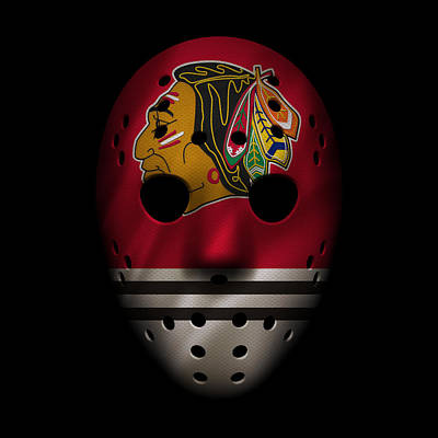 Blackhawks Jersey Mask Poster by Joe Hamilton