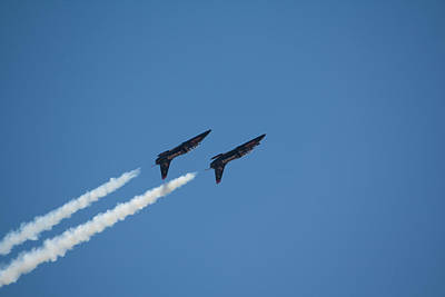 2 Blue Angles Upside Down Poster by Brian Williamson