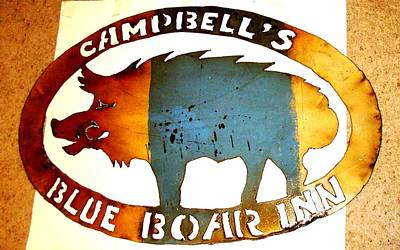 Blue Boar Inn Poster by Larry Campbell