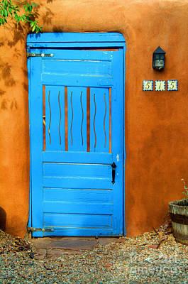Blue Door In Santa Fe Poster