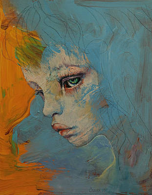 Blue Poster by Michael Creese