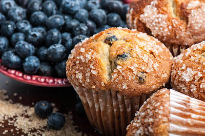Blueberry Muffins Poster by Brandon Bourdages