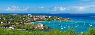 Boats At A Harbor, Cruz Bay, St. John Poster by Panoramic Images