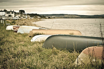 Boats At Findhorn Poster by Tom Gowanlock