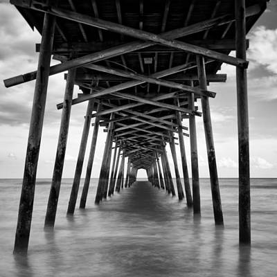 Poster featuring the photograph Bogue Inlet Fishing Pier #2 by Ben Shields