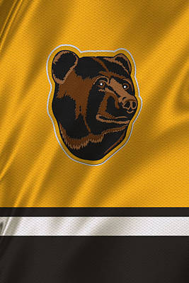 Boston Bruins Uniform Poster by Joe Hamilton