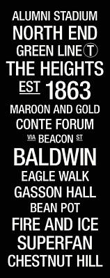 Boston College College Town Wall Art Poster by Replay Photos