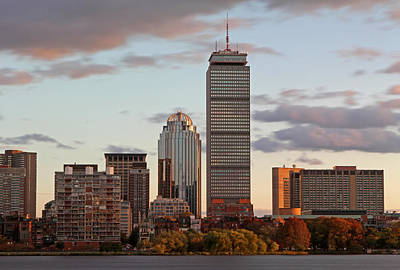 Boston Skyline Poster by Juergen Roth