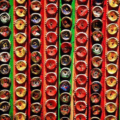 Bottle Caps Poster by Art Block Collections