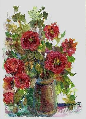 Poster featuring the painting Bouquet Of Poppies by Mary Wolf