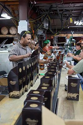 Bourbon Bottling Production Line Poster