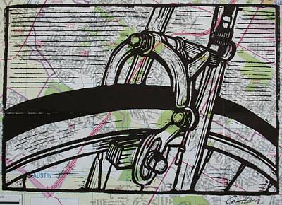 Brake On Map Poster