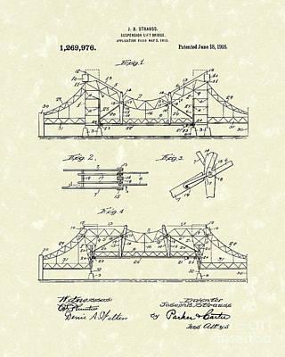 Bridge 1918 Patent Art Poster by Prior Art Design