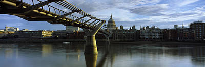 Bridge Across A River With A Cathedral Poster by Panoramic Images