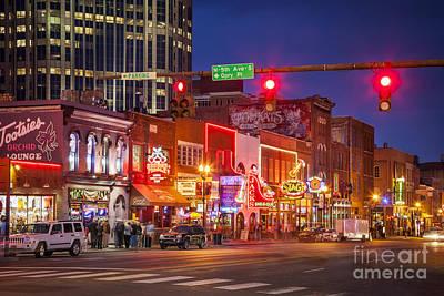 Broadway Street Nashville Poster by Brian Jannsen