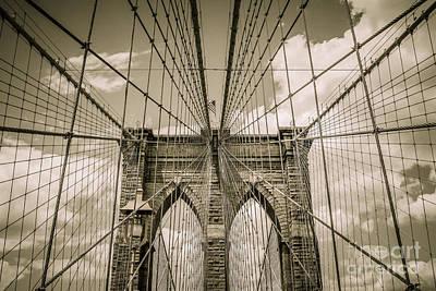 Brooklyn Bridge Poster by Diane Diederich