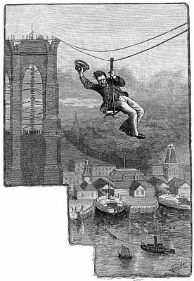 Brooklyn Suspension Bridge Poster by Universal History Archive/uig
