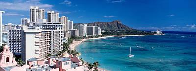 Buildings At The Waterfront, Waikiki Poster