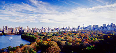 Buildings In A City, Central Park Poster by Panoramic Images