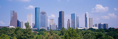 Buildings In A City, Houston, Texas, Usa Poster