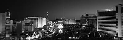 Buildings Lit Up At Night, Las Vegas Poster by Panoramic Images