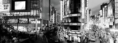Buildings Lit Up At Night, Shinjuku Poster by Panoramic Images