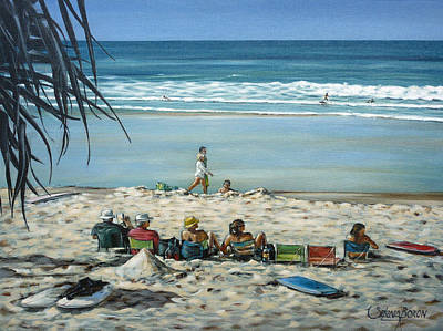 Poster featuring the painting Burleigh Beach 220909 by Selena Boron