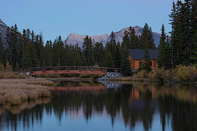 Cabin And Bridge On Policemans Creek Poster by Panoramic Images