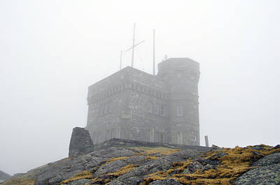 Cabot Tower In The Fog. Newfoundland. Poster by Fernando Barozza