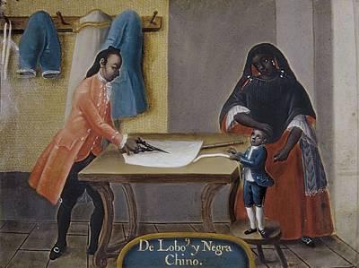 Cabrera, Miguel 1695-1768. Mixed Races Poster