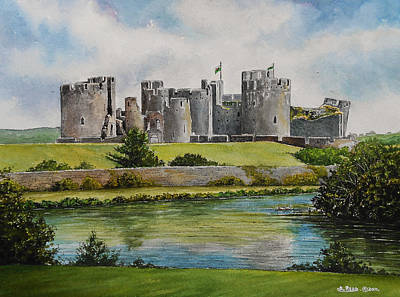 Caerphilly Castle  Poster by Andrew Read