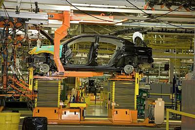 Car Assembly Production Line Poster by Jim West