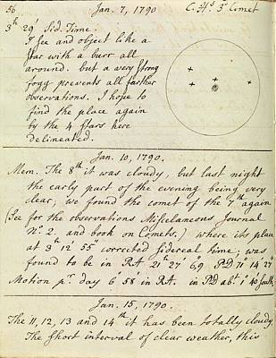 Caroline Herschel Comet Discovery Poster by Royal Astronomical Society