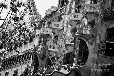 casa batllo modernisme style building in Barcelona Catalonia Spain Poster