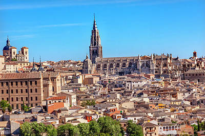 Cathedral, Medieval City, Toledo, Spain Poster