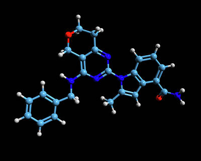 Cb-5083 Experimental Drug Molecule Poster by Dr Tim Evans
