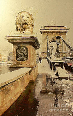 Chain Bridge In Budapest Poster