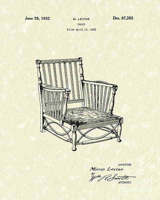 Chair 1932 Patent Art Poster