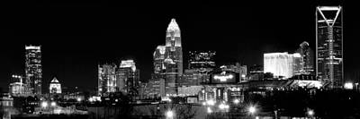 Charlotte Night Panoramic  Poster by Frozen in Time Fine Art Photography
