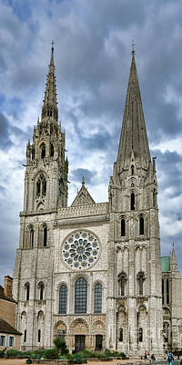 Chartres Cathedral Poster by Olivier Le Queinec
