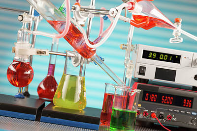 Chemistry Experiment In Lab Poster