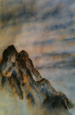 Chinese Ink - Mountains Poster by Nicla Rossini