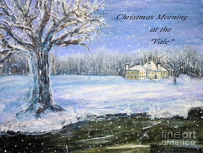 Poster featuring the painting Christmas At The Vale by Rita Brown