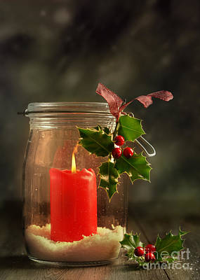 Christmas Candle Poster by Amanda Elwell