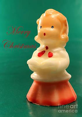 Christmas Card Choir Girl Sing Poster by Adam Long