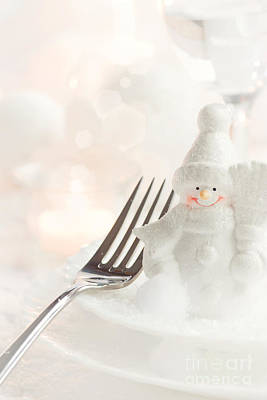 Christmas Dinner Poster by Mythja  Photography