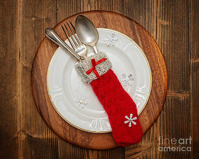 Christmas Table Setting Poster