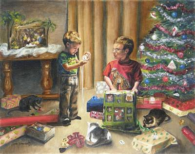 Poster featuring the painting Christmas Time by Lori Brackett